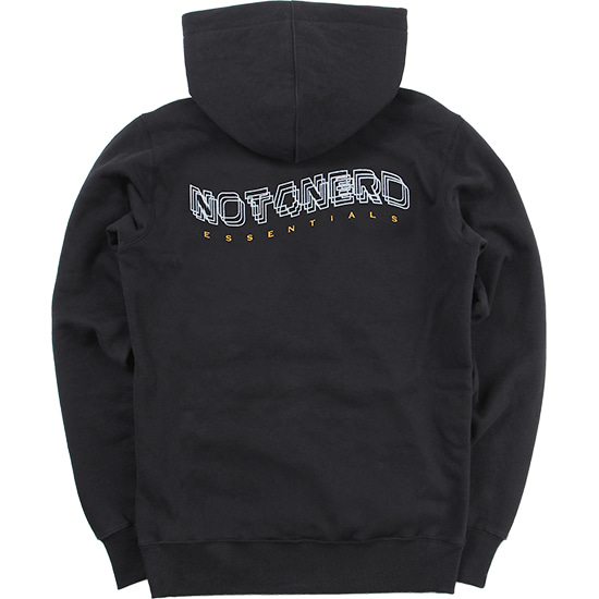 3Wave Logo Pullover Hood [Black],NOT4NERD