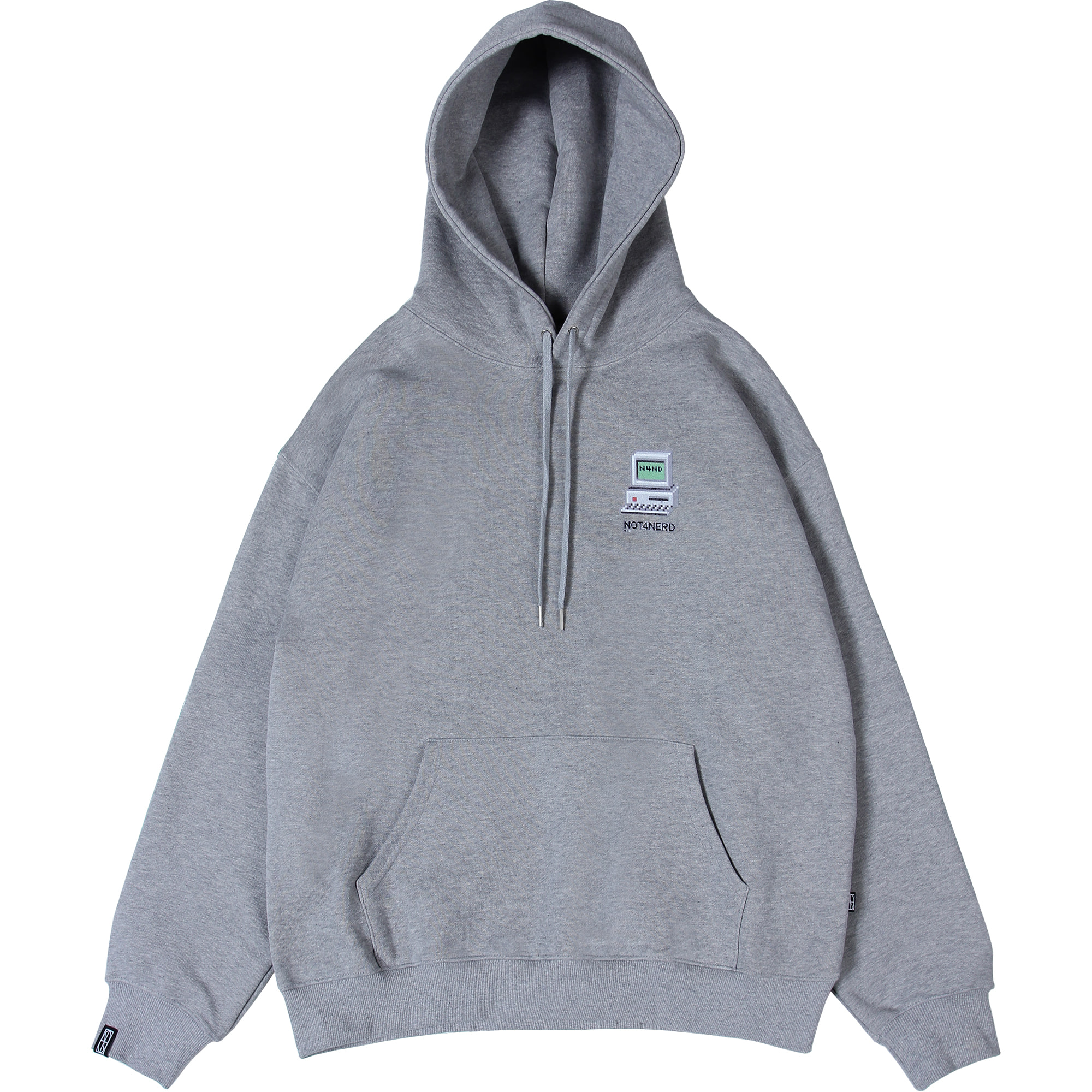Dot Pc Mosaic Logo Pullover Hood [Grey],NOT4NERD