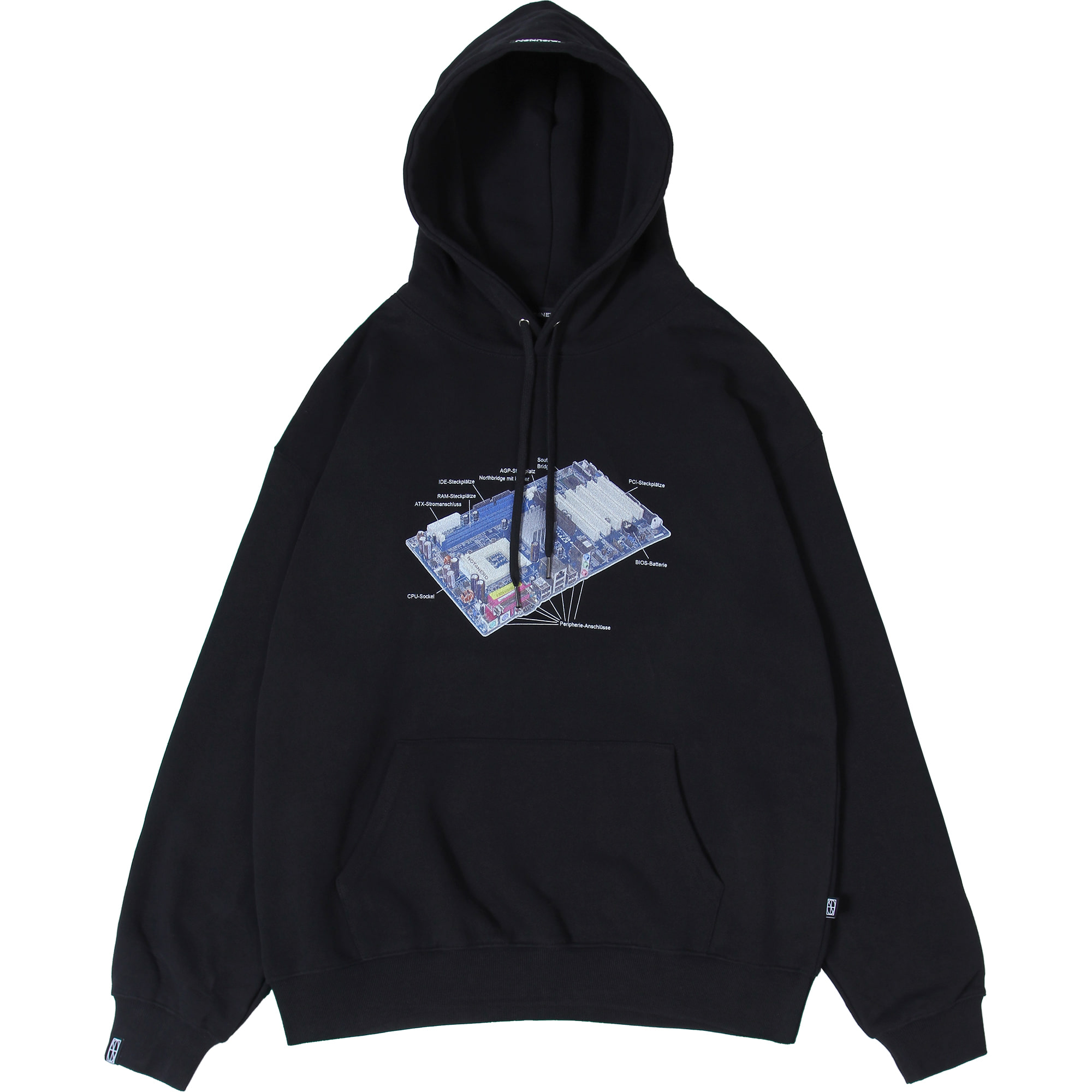 Mainboard Pullover Hood [Black],NOT4NERD