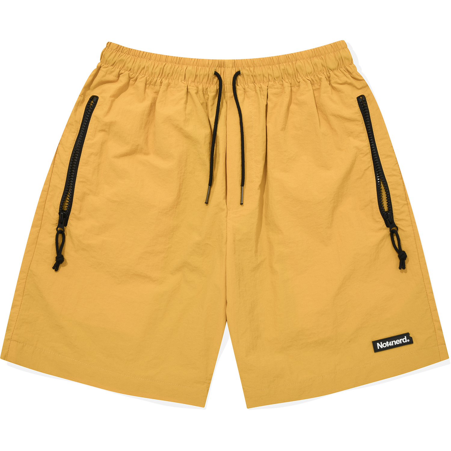 Nylon Zipper Short Yellow,NOT4NERD