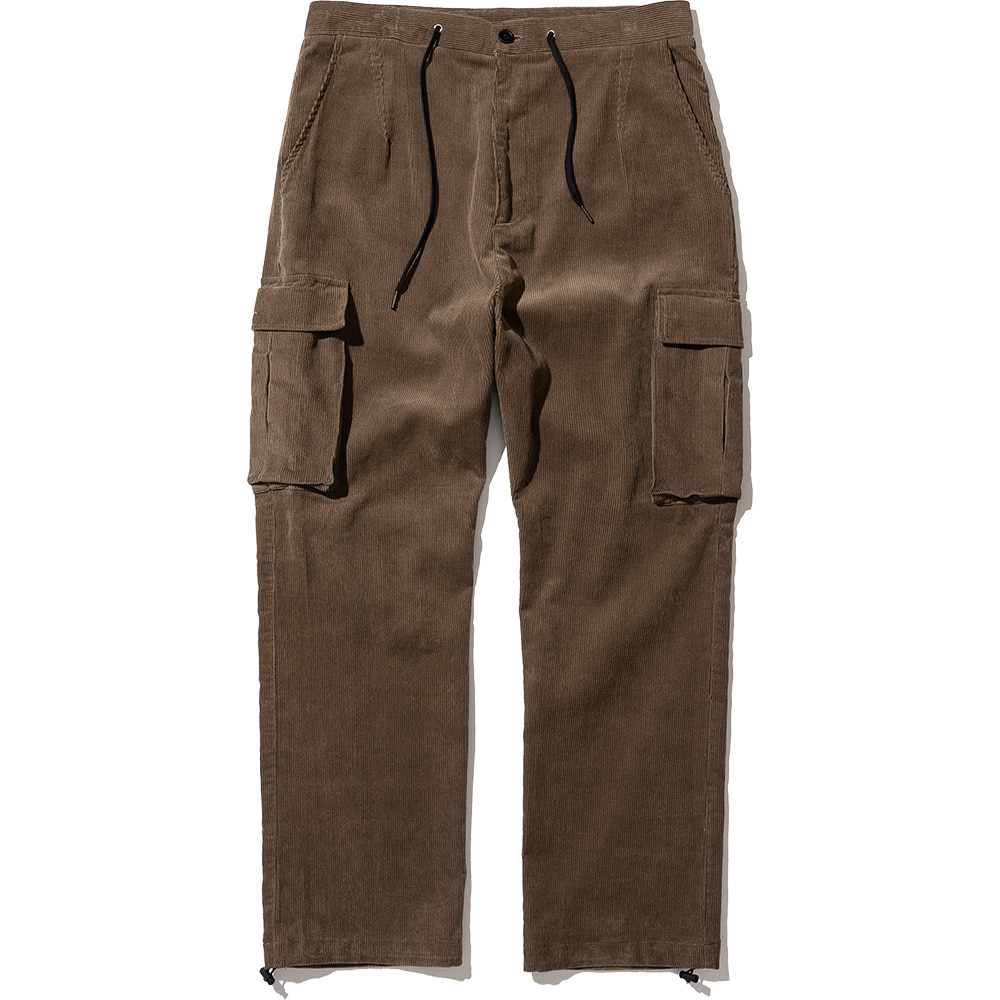 Corduroy Cargo Pants Brown,NOT4NERD