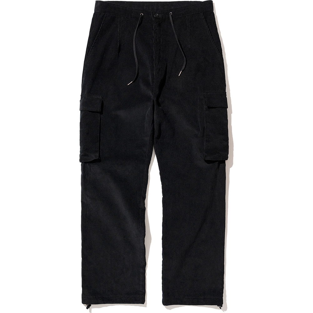 Corduroy Cargo Pants Black,NOT4NERD