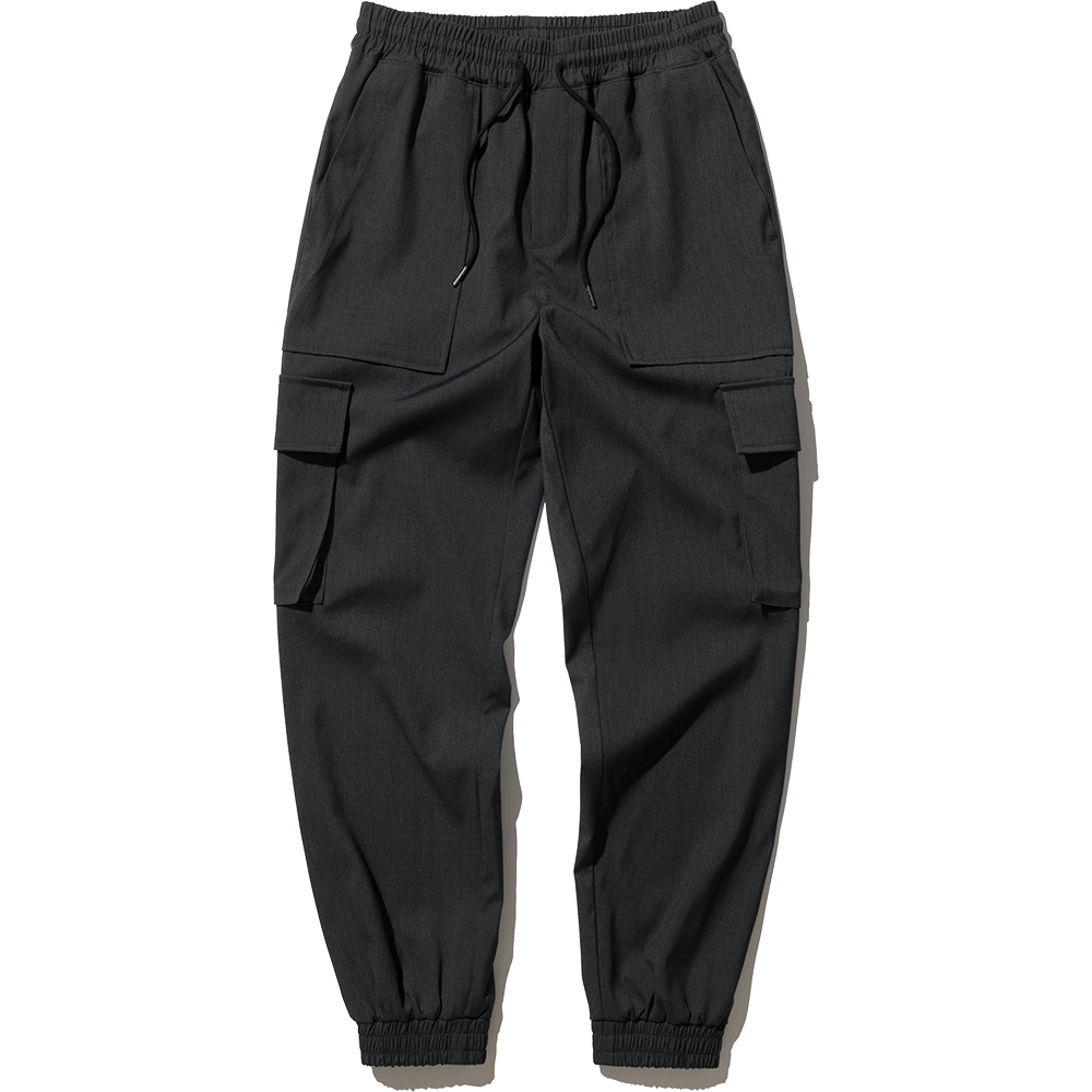 Cargo Jogger Slacks Pants - Charcoal,NOT4NERD