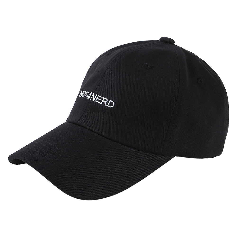 Basic Logo Cap [Black],NOT4NERD