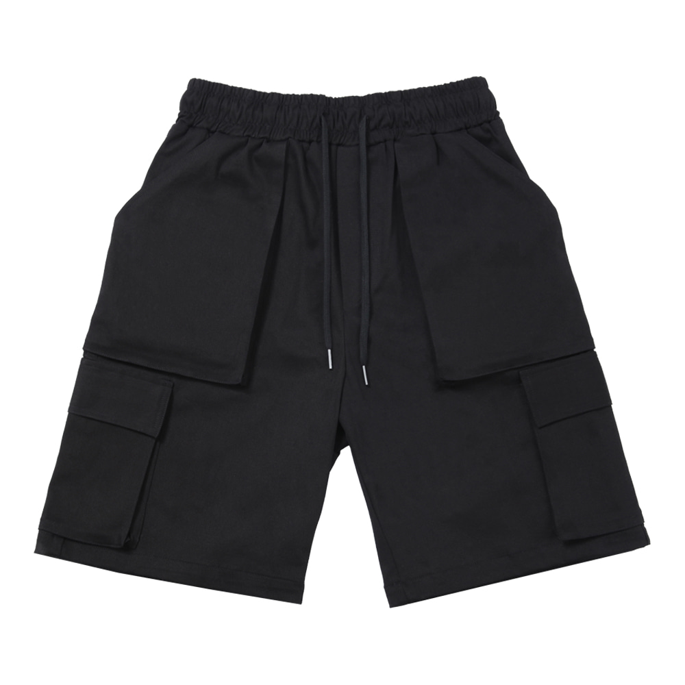 Cargo Shorts [Black],NOT4NERD
