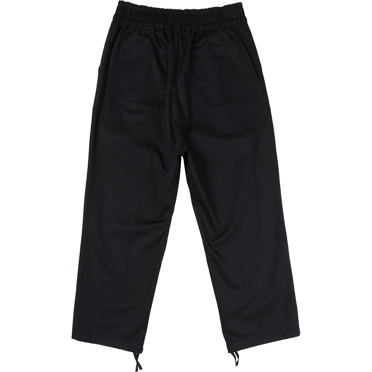 One Tuck Wide Pants Black [Black],NOT4NERD