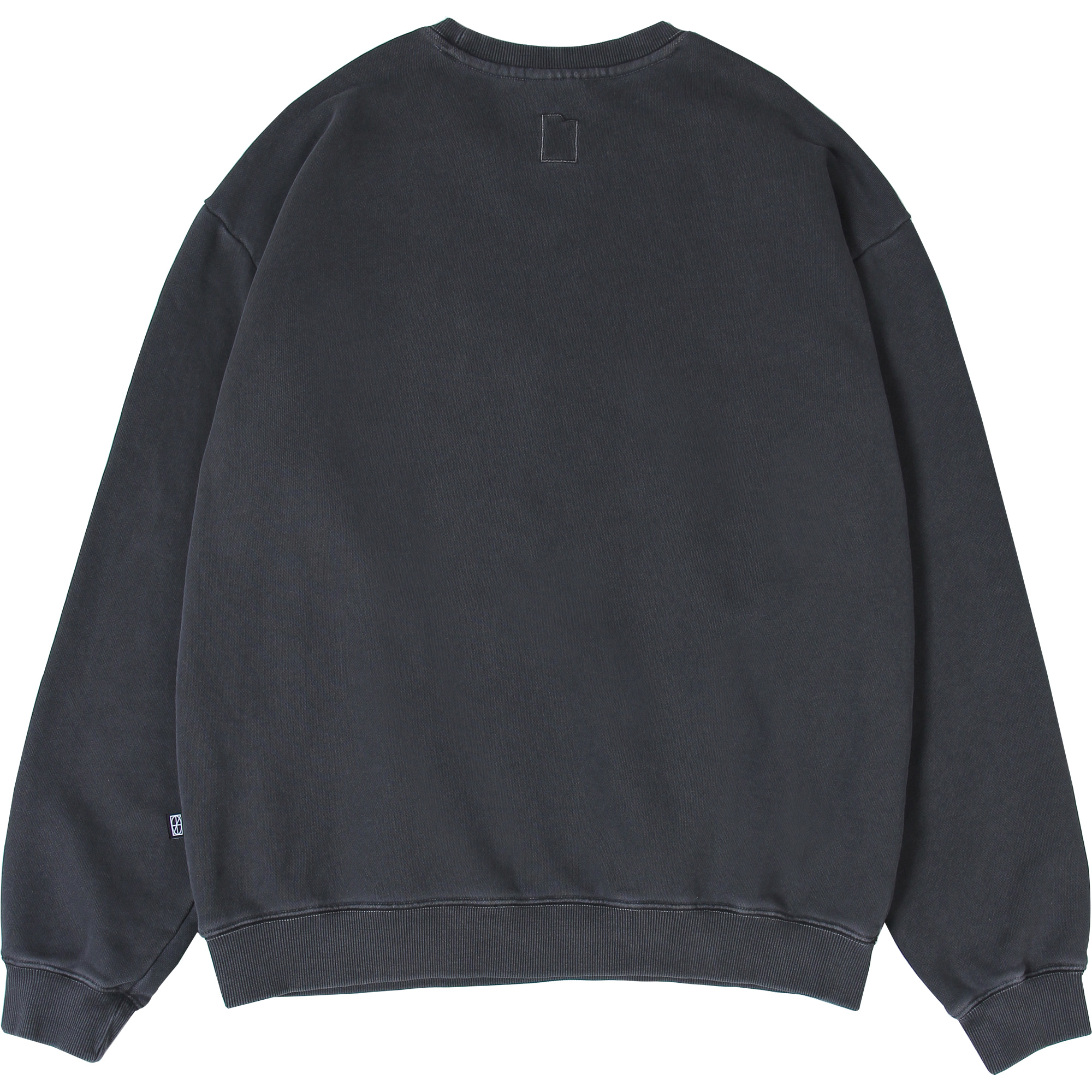 Pigment Wallet Label Crewneck [Dark Grey],NOT4NERD