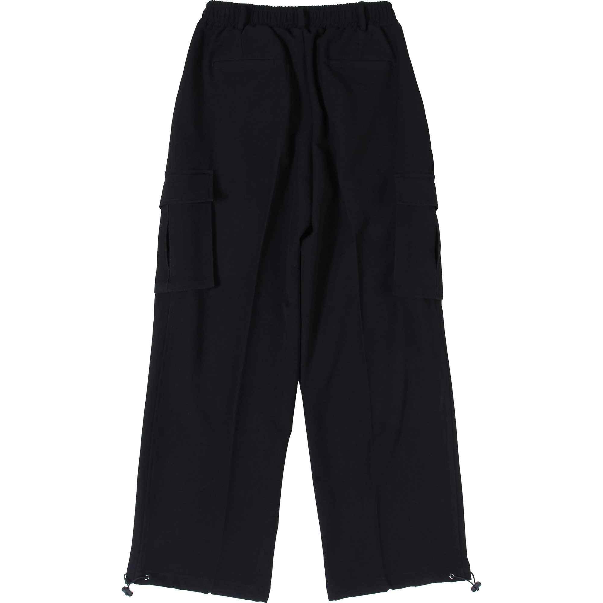 Wide String Cargo Slacks Pants [Black],NOT4NERD