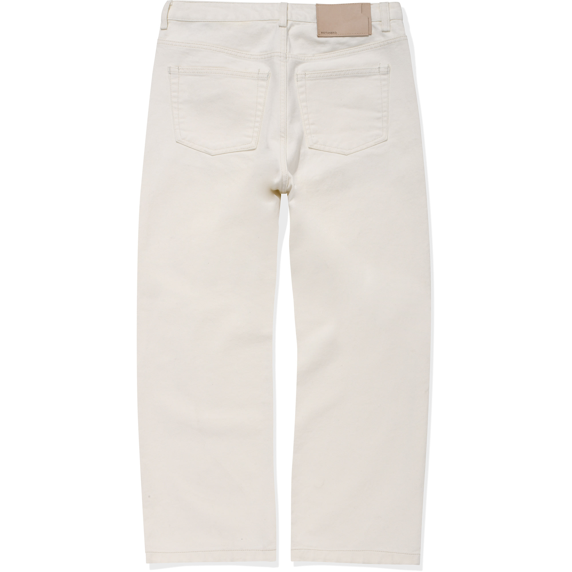 Card Wallet Wide Denim Pants [Cream],NOT4NERD