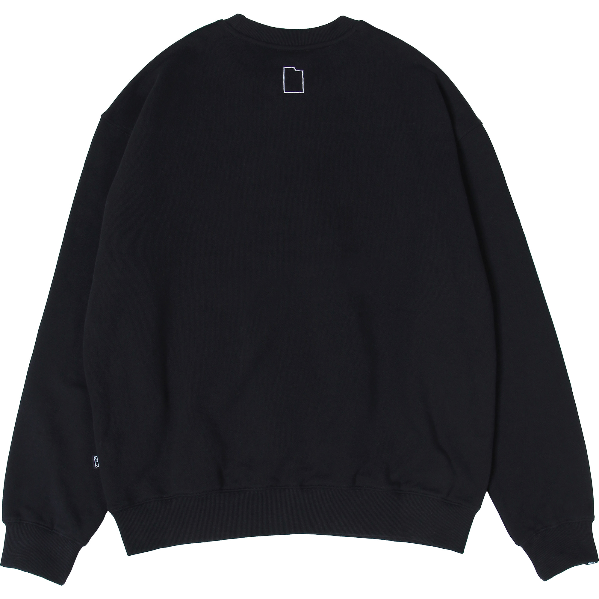 Card Wallet Crewneck [Black],NOT4NERD
