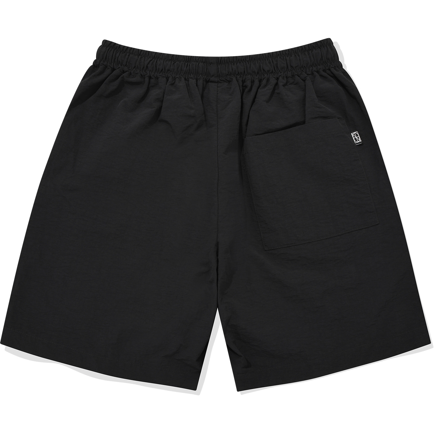 Nylon Zipper Short Black,NOT4NERD
