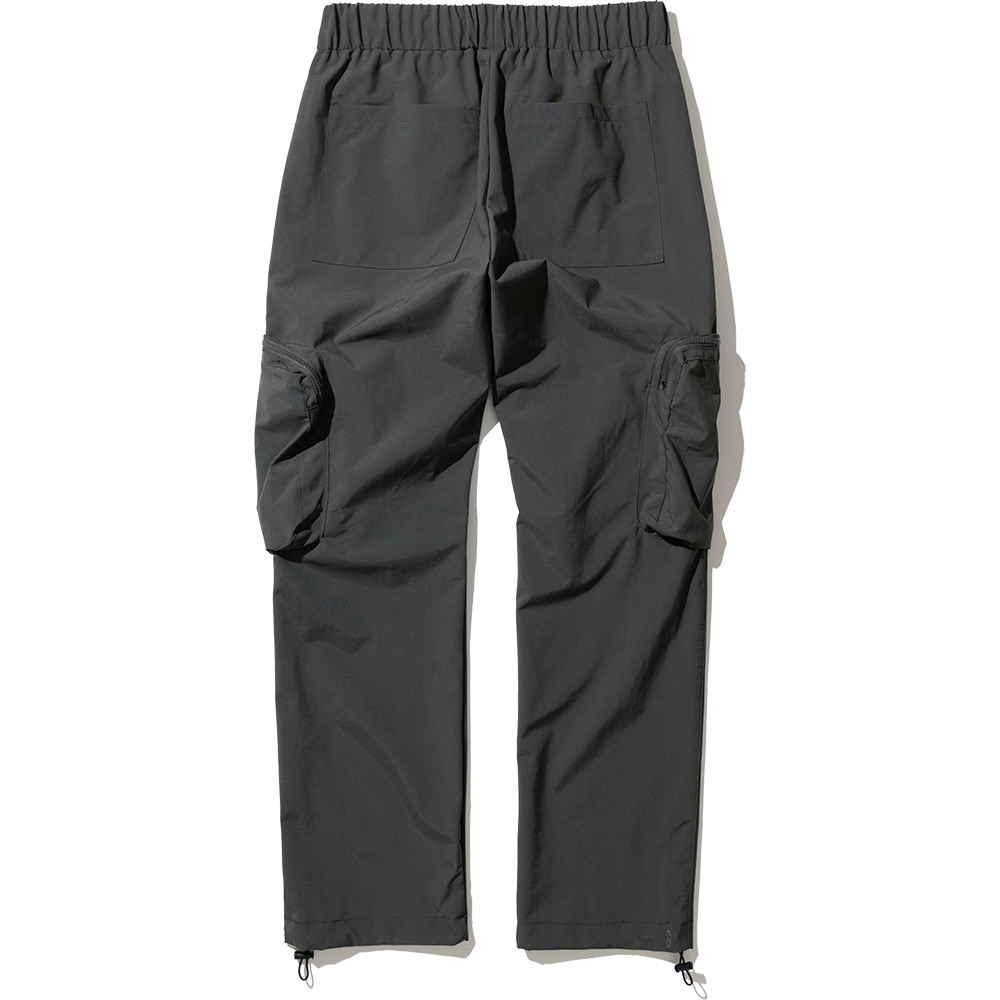 Nylon Utility Zipper Cargo Pants Charcoal,NOT4NERD