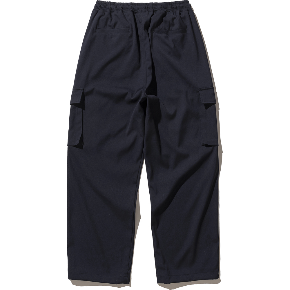 Wide String Cargo Slacks Pants - Navy,NOT4NERD